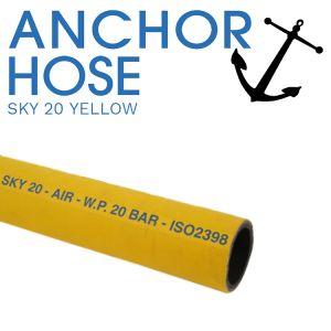 Sky 20 Bar Mandrel Built Yellow Air Hose - Cut Per Metre