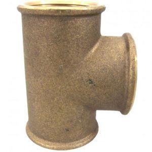 """2 1/2"""" (65mm) Brass Tee Female x Female x Female"""