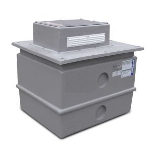 180 Litre One Piece Break Tank - 25mm Insulated with Raised Float Valve Box