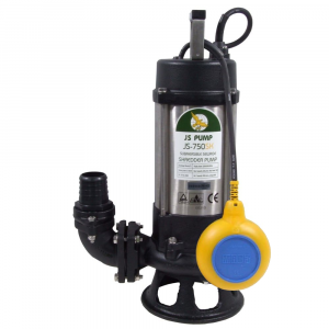 """JS-750 SK AUTO - 2"""" Submersible Sewage Pump With Cutter Impeller 240v"""