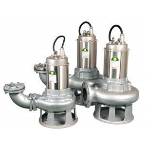 """JST-37SKSS - 4"""" All 316 Stainless Steel Submersible Single Channel Cutter Pump 415v"""