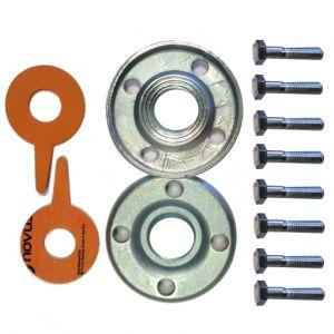 """Lowara DN100 4"""" Galvanized Steel Round Counterflange Threaded Kit"""