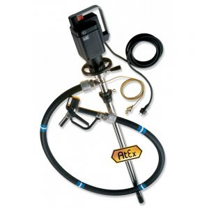 Lutz Drum Pump Set for Hazardous Fluids ME ll 3 110v Motor 1000mm Immersion Depth