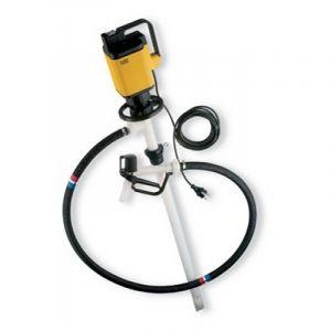 Lutz Drum Pump Set for Concentrated Acids & Alkalis MAll5 110v Motor 1000mm Immersion Depth