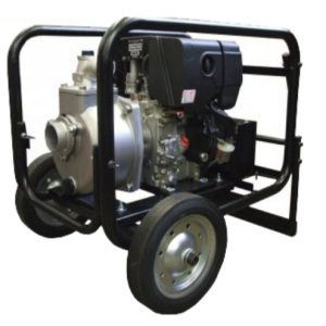 "Koshin SE-80XDHES - 3"" Inch Diesel Powered Centrifugal Electric Start Pump with Wheel Kit"