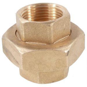 Galvanised Brass 3-Part Union