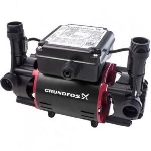 Grundfos STR2-1.5 C Twin Impeller Regenerative Shower Booster Pump (x4 Hoses Inc.)