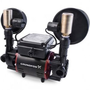 Grundfos STR2-1.5 CN Twin Impeller Universal Regenerative Shower Booster Pump (x4 Hoses Inc.)