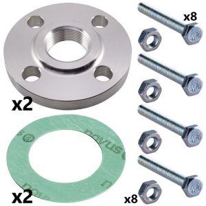 80mm & 100mm Threaded Flange Set for NB(E),(K),(KE)80 Pumps (2 Sets Inc)