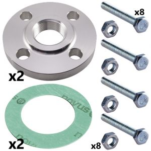 1 1/2 Inch Stainless Steel Threaded Flange Set for CRN(E) 10 Pumps (2 sets inc)