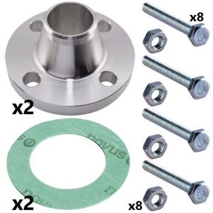 150mm 16 Bar Stainless Steel Weld Neck Flange Set for CRN(E) 125 and CRN(E) 155 Pumps (2 sets inc)