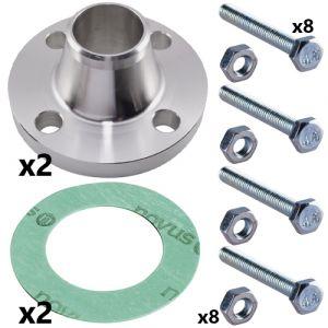 40mm Stainless Steel Weld Neck Flange Set for CRN(E) 10 Pumps (2 sets inc)